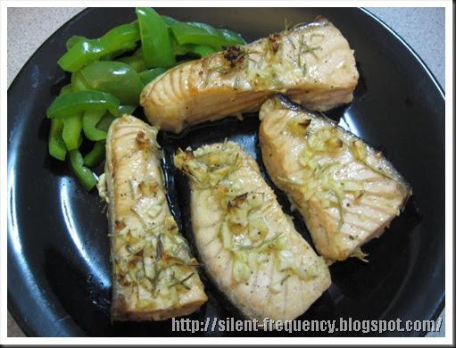 寂靜的頻率: [晚餐] 迷迭香鮭魚 Grilled Salmon with Rosemary