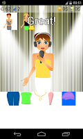 Screenshot of singer dress up games