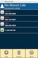 Screenshot of No Missed Calls