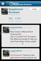 Screenshot of Sports Supplement Reviewer App