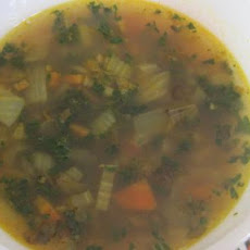 Warming Lentil Soup With Kale & Rice
