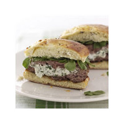 Herbed Cream Cheese-Stuffed Lamb Burgers