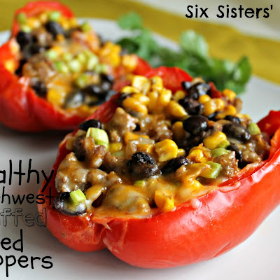 Healthy Southwest Stuffed Red Peppers