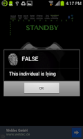 Screenshot of Lie Detector: True Scanner