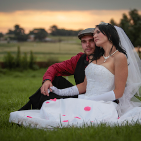 by Johan Niemand - Wedding Bride & Groom ( wedding, dress, couple, bride, groom )