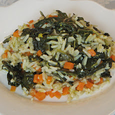 Turnip Sprouts and Carrot Rice – Arroz de Nabiças e Cenoura (Portugal)