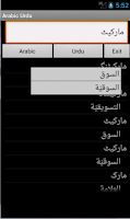 Screenshot of Arabic Urdu Dictionary