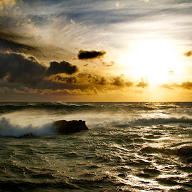 by James Blyth Currie - Landscapes Sunsets & Sunrises ( clouds, water, waves, sea, africa, cape town )