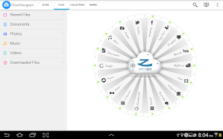 Screenshot of ZeroPC Cloud Navigator