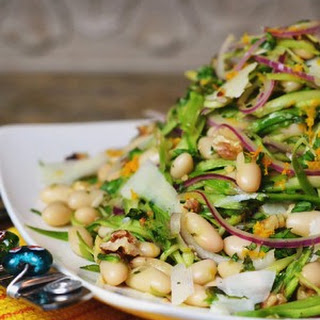 Shaved Asparagus & White Bean Salad