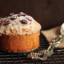 Cranberry coffee cake by Vrinda Mahesh - Food & Drink Cooking & Baking ( desserts, cakes, food, baking,  )