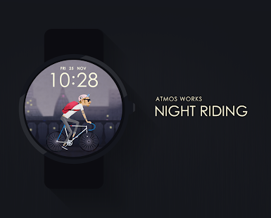 Night Riding watchface by Atmos Screenshot