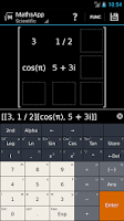 Screenshot of MathsApp Graphing Calculator