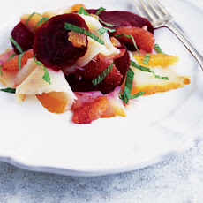 Smoked Halibut, Beetroot And Clementine Salad