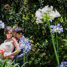 Keep love in your heart. A life without it is like a sunless garden when the flowers are dead. by Yansen Setiawan - Wedding Bride & Groom ( wedding, los angeles, bride and groom, flowers, garden )