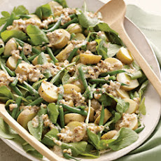 Arugula, Potato, and Green Bean Salad with Walnut Dressing