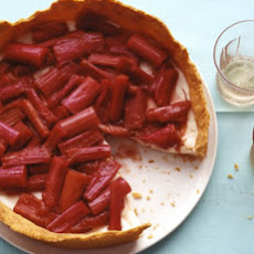 Rhubarb Tart with Lemon-Yogurt Mousse