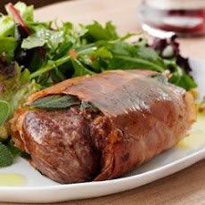 Lamb Chops with Prosciutto and Salad