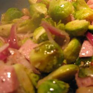Ham and Brussels Sprout Bake