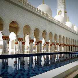 Grand Mosque, Abu Dhabi, United Arab Emirates by Andie Andros - Buildings & Architecture Other Exteriors ( the viewing deck, mosque, abu dhabi, united arab emirates,  )