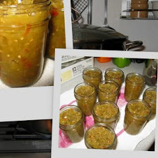 Green Tomato Relish (Hot Dog Relish)