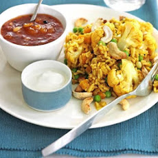 Spiced Rice & Lentils With Cauliflower