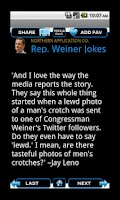 Screenshot of Congressman Weiner Jokes
