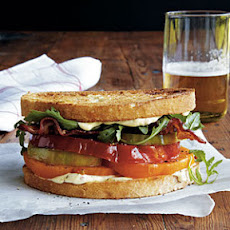 Heirloom Tomato, Arugula, and Bacon Sandwiches