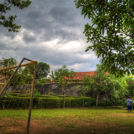 Kids Playing Soccer by Tepy Fauzy - Sports & Fitness Soccer/Association football ( field, soccer, kid )