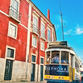 N 28 by Dmitry Samsonov - Transportation Other ( tram, lisbon, portugal, lisboa, 28 )