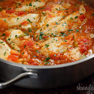 Skillet Cajun Spiced Flounder with Tomatoes