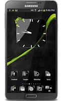 Screenshot of Crystal Black Clock Widget
