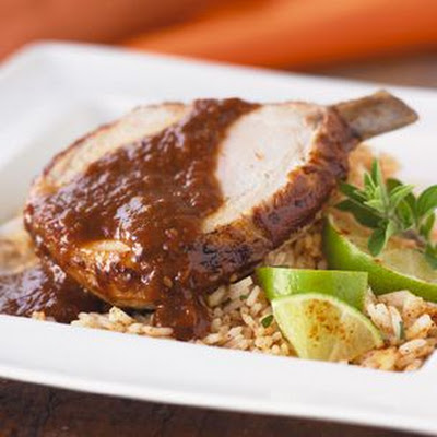 Roasted Pork with Mole Sauce