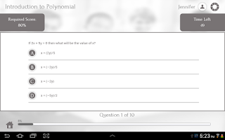 Screenshot of Learn Algebra II