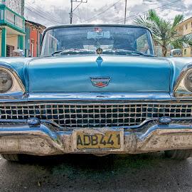 Cuban Ford Fairlaine by Don Martin - Transportation Automobiles