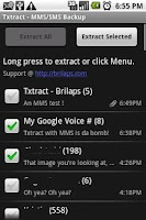Screenshot of Txtract MMS SMS Backup