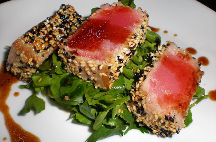 Sesame Crusted Tuna Steak On Arugula Recipes — Dishmaps