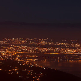 Rijeka,Croatia by Danijel Andreas Ivanek - City,  Street & Park  Skylines ( rijeka, croatia, city lights, cityscape, city skyline, city )