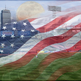 Fenway Freedom by Jamie Beiler - Digital Art Places (  )