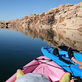 Chillin by Debbie Theobald - Novices Only Sports ( arizona, lakes and rivers, landscapes, waterscapes, kayaking,  )