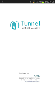 Tunnel Critical Velocity - screenshot