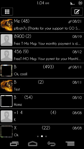 玩個人化App|GO SMS Pro - GO Darkness Skin免費|APP試玩