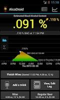 Screenshot of AlcoDroid Alcohol Tracker