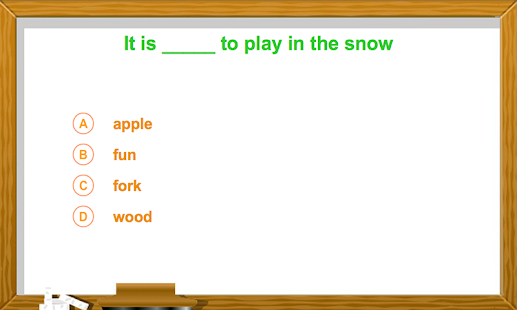 Kindergarten - Fill The Blanks - screenshot