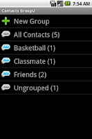 Screenshot of Contacts GroupU (Free)