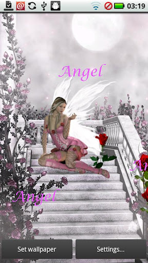 Angel Moon Live Wallpaper