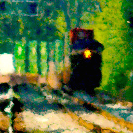 Impressionistic Train by Stephen Barrett - Abstract Patterns