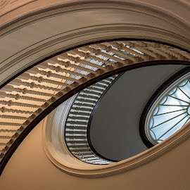 Eastman house by John Zachary - Buildings & Architecture Architectural Detail ( eastman house, kodak, stairway fugi )