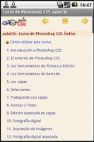 Screenshot of Curso  Photoshop CS5