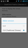 Screenshot of DashClock Bible Psalms